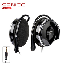SENICC MX-145N Hifi Sports Extra Bass Music Earhook Earphone Stereo Light Ear-hook Headphone with Volume Control for Phone 3.5mm