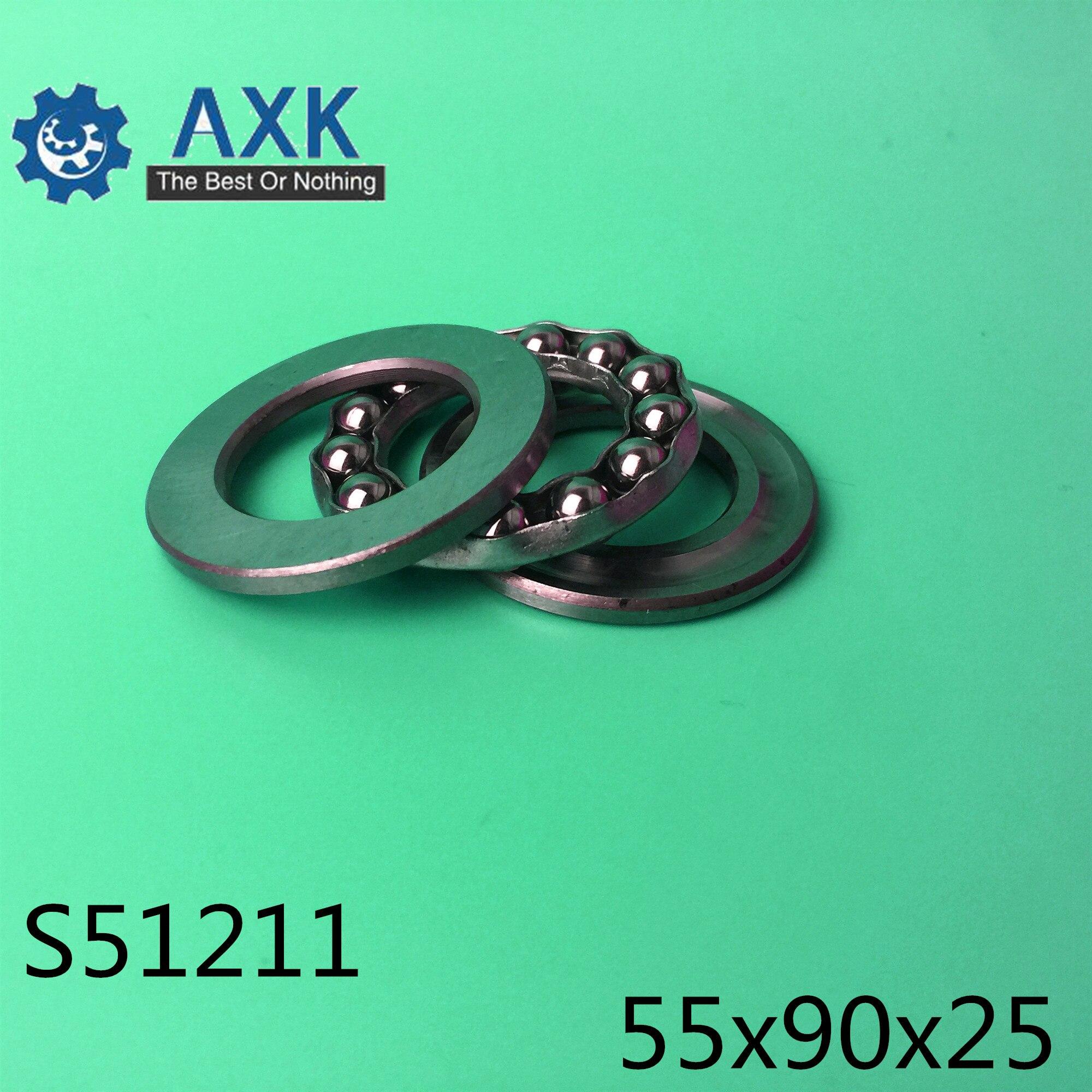 S51211 roulement 55*90*25mm (1 PC) ABEC-1 en acier inoxydable poussée S 51211 roulements à billes