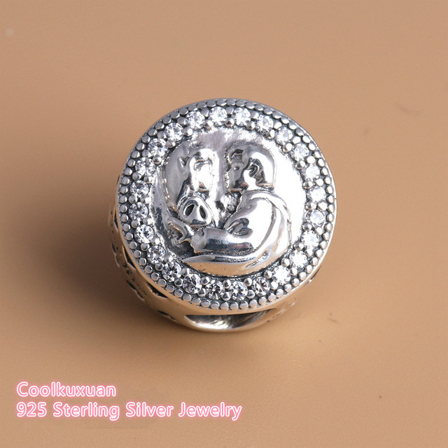 73ef307eb 2018 New Snow White 80th Anniversary Charms Beads Fits Pandora bracelets  925 Sterling Silver Love's First Kiss Heart Beads