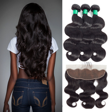 Ear To Ear 13″x 4″ Lace Frontal Closure With Brazilian Body Wave Bundles