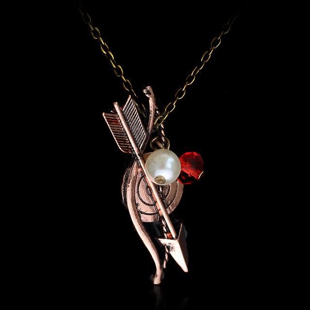 Dongsheng מכירה לוהטת וולף Bow חץ מגן שרשרת עלה זהב קסם אופנה שרשרת חץ וקשת קשת תכשיטי לגברים נשים- 30