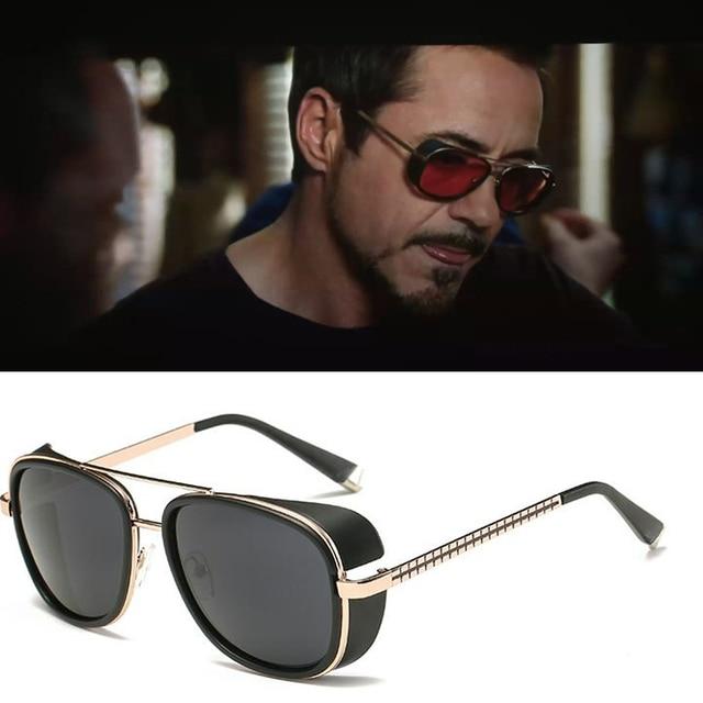 bb62f264a8e Metal Iron Man 3 Matsuda TONY stark Sunglasses Men Rossi Coating retro  Vintage Designer Sun glasses Oculos Masculino Gafas de