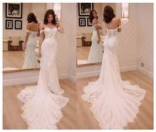 LORIE Ngà Công Chúa Wedding Dresses Off The Shoulder 2019 Robe de mariee Vintage Ren Mermaid Bridal Gown Elegant Wedding Gown