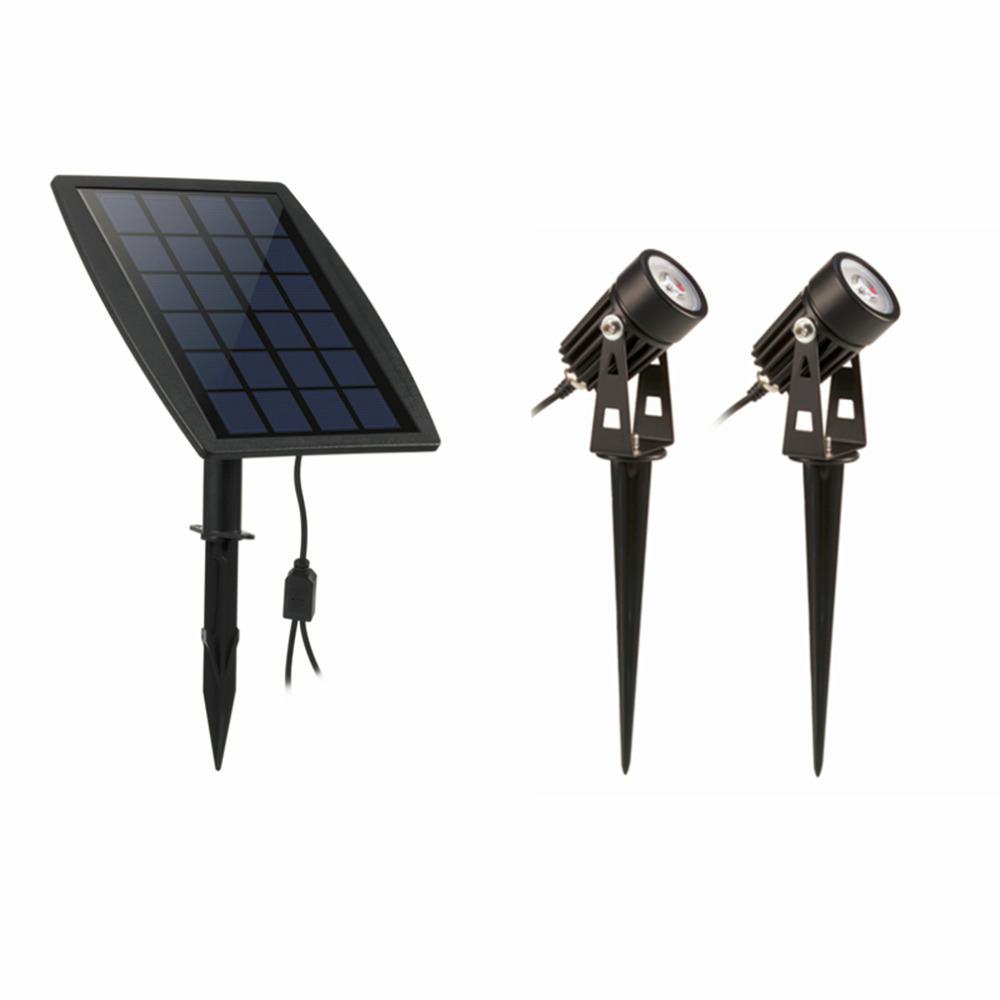 ICOCO Waterproof IP65 Outdoor Garden LED Solar Light Super Brightness Garden Lawn Lamp Landscape Spot Lights