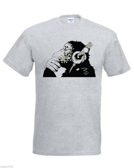 Aap Banksy Glitter Aankomst Mannen Custom T 2018 Nieuwe Shirts Met c35jALqR4S