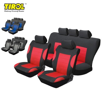 TIROL Breathable Full Car Seat Cover Set 11Pcs Seat Protective Interior Accessories For Crossovers SUV Sedans Free Shipping фото