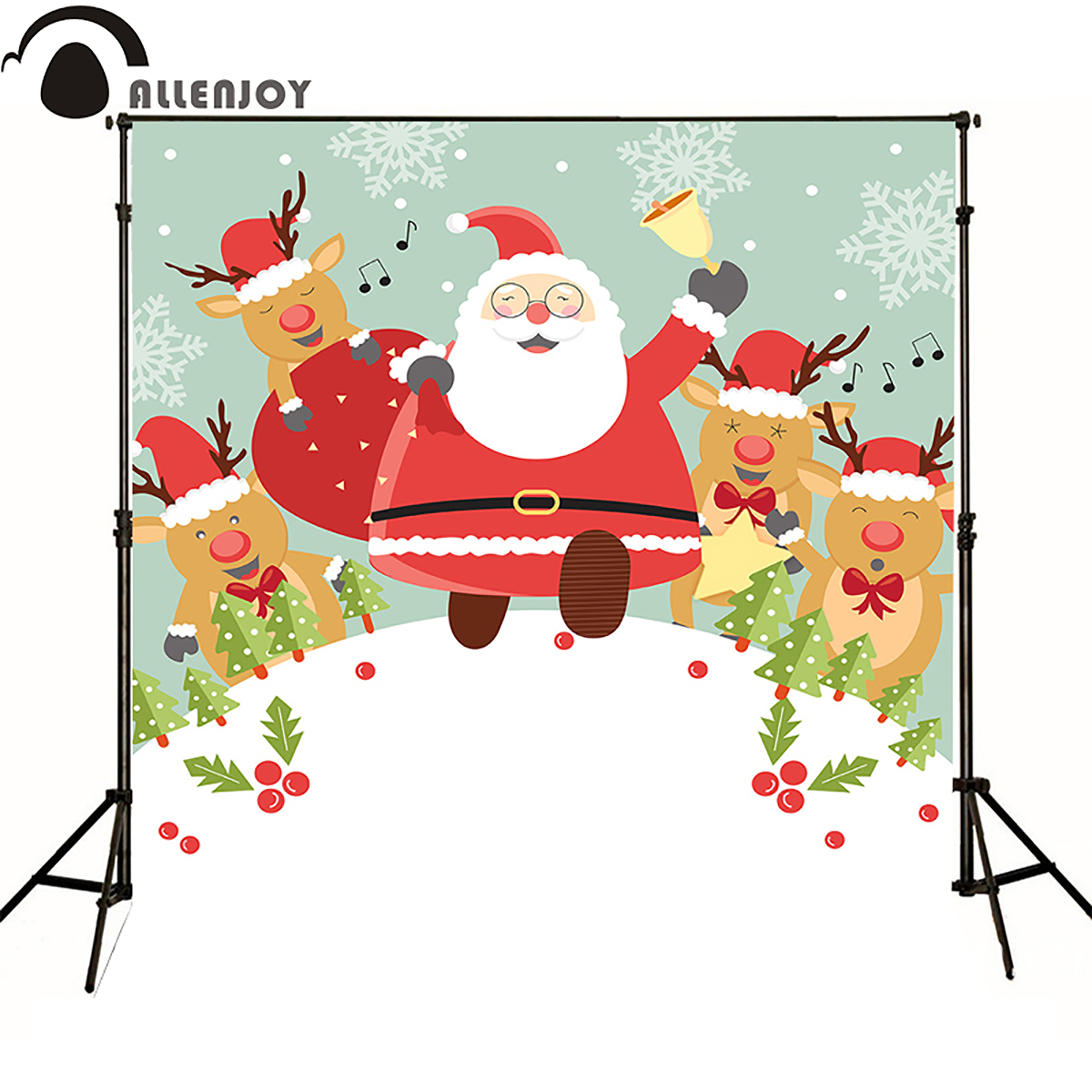 Allen joy christmas photography backdrops santa claus xmas celebration reindeer fun newborn baby shower photocall cartoon inflatable cartoon customized advertising giant christmas inflatable santa claus for christmas outdoor decoration