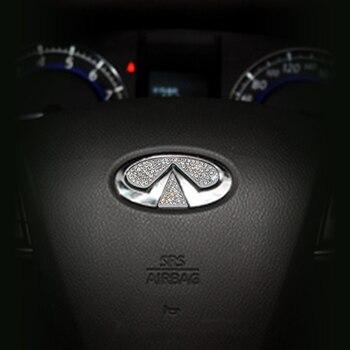 Accessori Auto Per Volkswagen Audi Volvo Lexus Hyundai Honda Mazda Toyota Auto Volante Logo Diamante Decorazione Adesivi