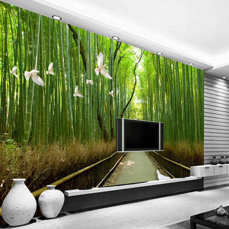 Superieur 3d Bamboo Mural Enjoy Life And Feel The Beauty Of Nature Decorative Wall  Panels Living Room Wall Art Deco Wallpaper In Wallpapers From Home  Improvement On ...