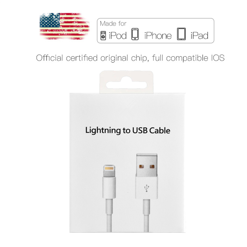 2m Original USB Data Charging Cable For iPhone 5 5S 6 6S 7 8 Plus X XS Max XR Fast Charger Phone Cables for iPad mini <font><b>2</b></font> 3 Air <font><b>2</b></font> image