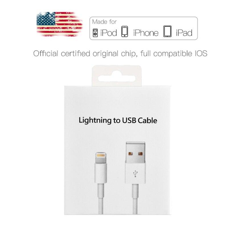 2m Original USB Daten Ladekabel Für iPhone 5 5S 6 6S 7 8 Plus X XS max XR Schnelle Ladegerät Telefon Kabel für iPad mini 2 3 Air 2