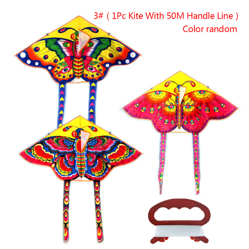 1PCS 90 * 50cm Outdoor Sports Butterfly Flying Kite With Winder Board String Children Kids Toy Game