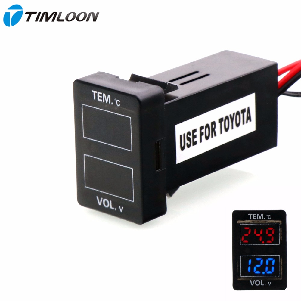 Car Interface 12V Special Design With Voltage and Temperature Display Use For TOYOTA,Camry,Corolla,Yaris,RAV4,Reiz,Land Cruiser наклейки for toyota 2015 toyota toyota corolla vios reiz jiamei camry yaris rav4