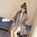 2017 Novas Mulheres Da Moda Cores Sólidas Puras Cachecol de Inverno Cashmere Quente Envoltório, Luxo Elegante Marca Feminina Cachecol Xales Pashmina