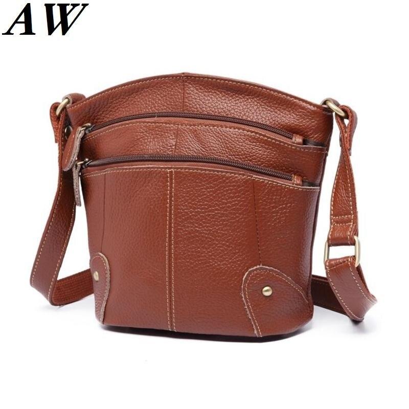 100% Echtem Leder Weibliche Beutel Frauen Messenger Bags Berühmte Marken Mode Damen Schulter Umhängetasche Bolsas Feminine In Vielen Stilen