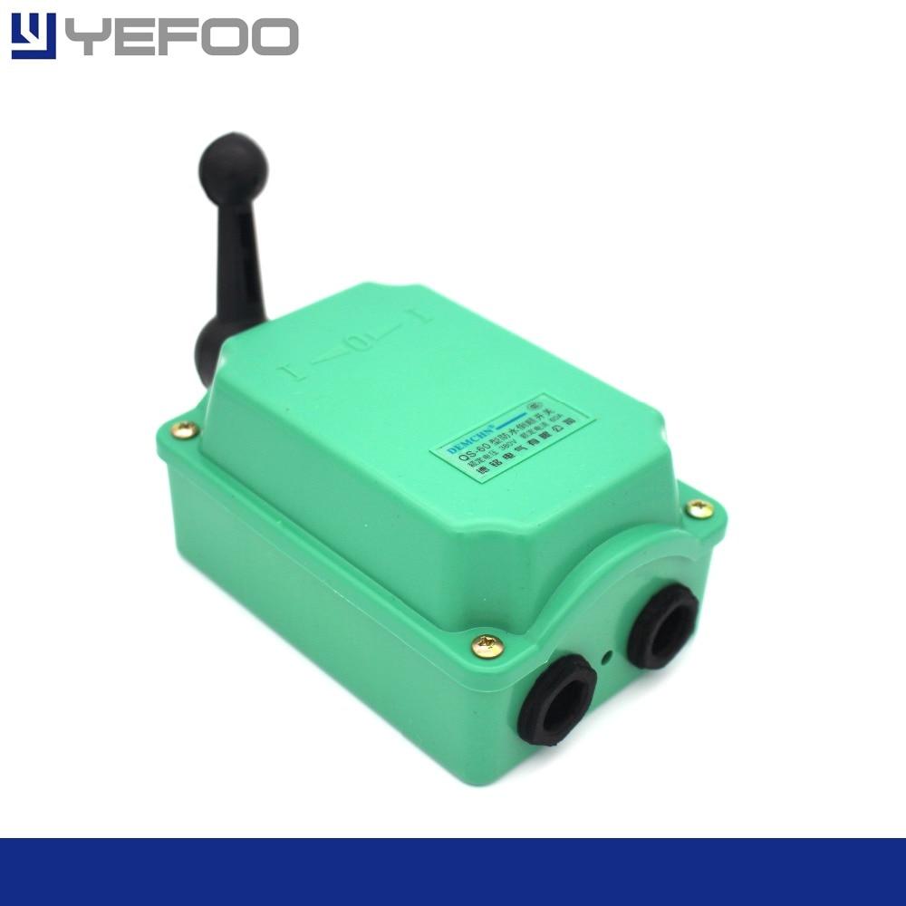QS-30A / QS-60A 60Amp Rain Proof Reversing Drum Switch  waterproof reverse 380v 220v цены онлайн