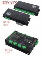 24 32 канала BC 824 светодиодный 24CH/BC 632 32CH DMX512/1990 декодер сигналов драйвер DC5V 24V 3A * 24CH дисплее отображается DMX512 RGB пульт дистанционного управления