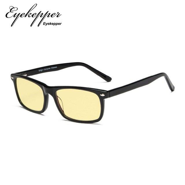 9646fc1fe8a TMB899 Eyekepper Acetate Frame Blue Light Blocking Computer Glasses-Yellow  Tinted Lens Eyeglasses