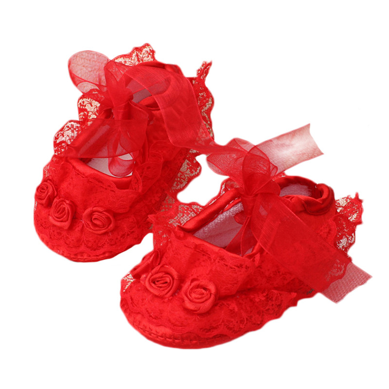 Baby Girl Shoes First Walkers Lace Floral Newborn Baby Shoes Princess Infant Toddler Baby Shoes For Girls Party