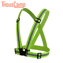 Travel Suite Multi-Adjustable Outdoor Security Visibility Reflective Vest Striped 360 Safe Night Run Luminous