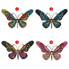 Butterfly Brooch Clothes Bouquet Dress Insect Animal Badge Scarf Decoration Fashion Rhinestone Delicate Women Mom Girl Gifts(China)