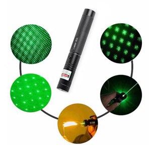Image 5 - 10000M מצביע לייזר 5mW 18650 סוללה מופעל נטענת LED פנס 532nm 303 ירוק עט קרן גלויה אור LED לפיד