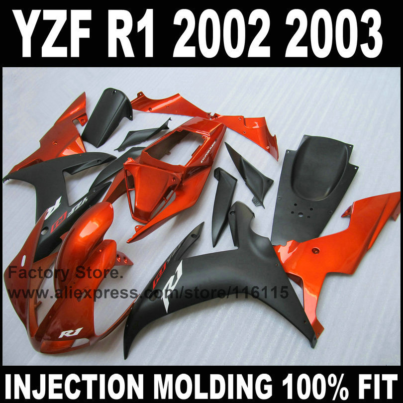 Custom free injection mold fairings kits for YAMAHA YZF R1 2002 2003 YZFR1 02 03 YZF-R1 burnt orange black ABS fairing bodyworks 10 1 inch for samsung galaxy tab 2 ii gt p5100 p5110 n8000 n8010 n8013 tablet touch screen digitizer glass panel