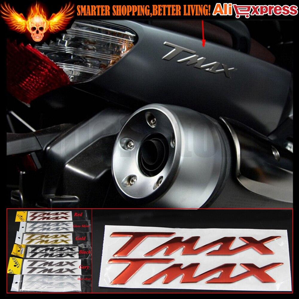 Rot/grau/schwarz motorrad aufkleber aufkleber emblem abzeichen 3d aufkleber angehoben tank rad für yamaha t-max tmax 530 500 tmax530 tmax500