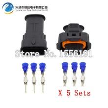 все цены на 5 Sets 3 Pin DJ7036A-3.5-11/21 Female Male 3.5mm Auto Sensor Plug Waterproof Electrical Wire Connector онлайн