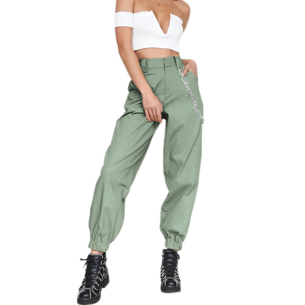 ADISPUTENT High Waist Pants Camouflage Loose Joggers Women Military Pants Streetwear Punk Cargo Pants Women Capris Trousers 17