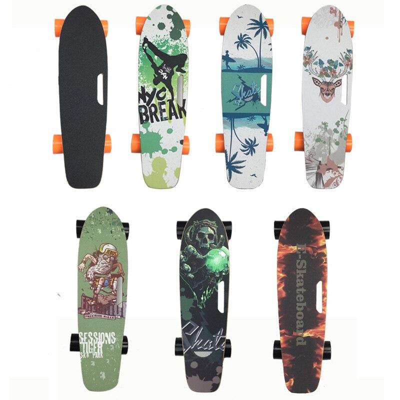 1PC Commplete Electric Skateboard 27inch Single Drive 250W 72mm Motor 24V Battery EABS Braking System 6inch E-skateboard Truck