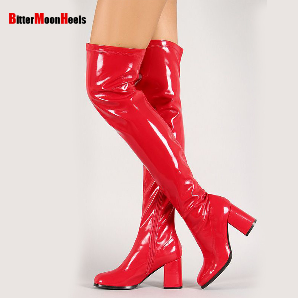 ФОТО Wome sexy fashion new Spring autumn over-the-knee high top ladies elegant boots thin heels high-heeled shoes large plus size