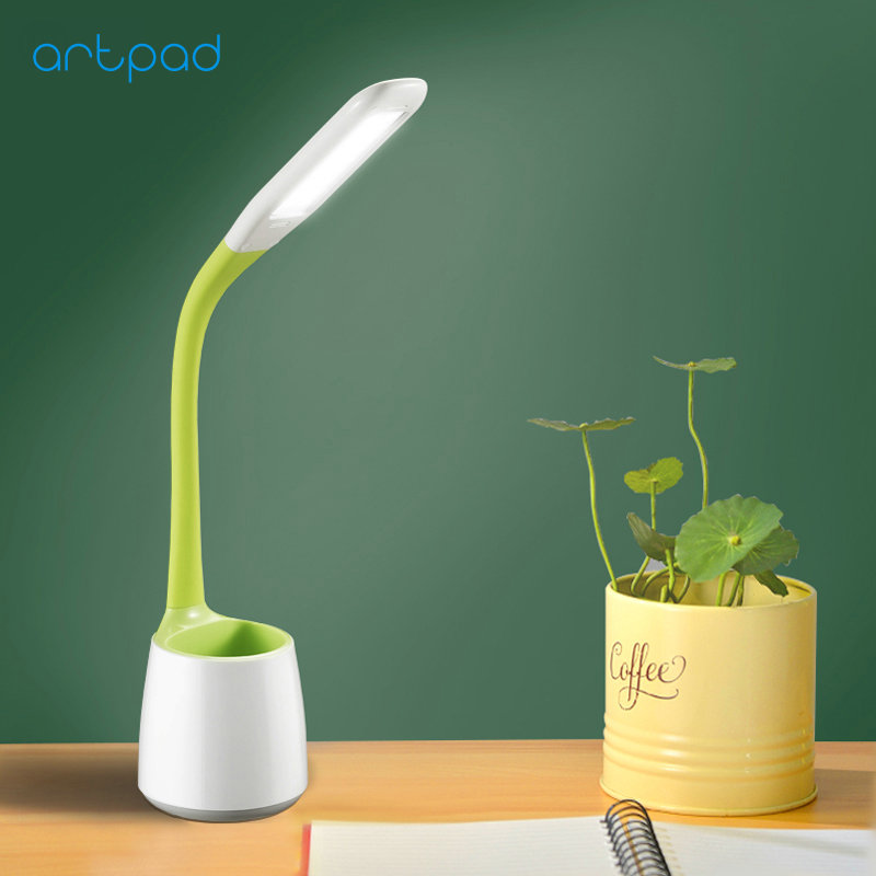 Eye Care Student LED Table Light for Reading Touch Dimmer 3 Brightness Plug in Modern Study Desk Lamps for Office Lighting five touch dimmer usb desk lamps study reading lampe led aluminum modern office abajur para quarto flexible table masa lambas t8