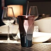 2016 New Reusable 16 unze 450 ML Edelstahl Kaffeetasse Metall tee Saft Drink Cup Edelstahl Tumbler Mit Stroh Und deckel