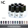 Gelpolish Grey Colors UV LED Gel Nail Polish Glitter Soak Off the Base and the Top of Gel Varnish Top Base Gel Lacquer Uv Gel