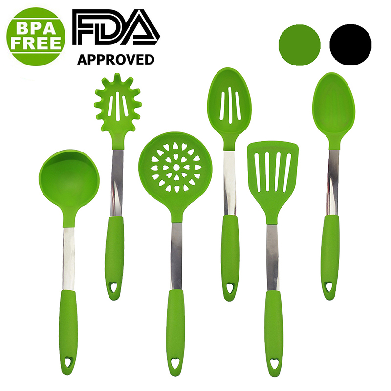 Kitchen Tools Set Silicone Cooking Tool Sets FDA Approved Premium ...