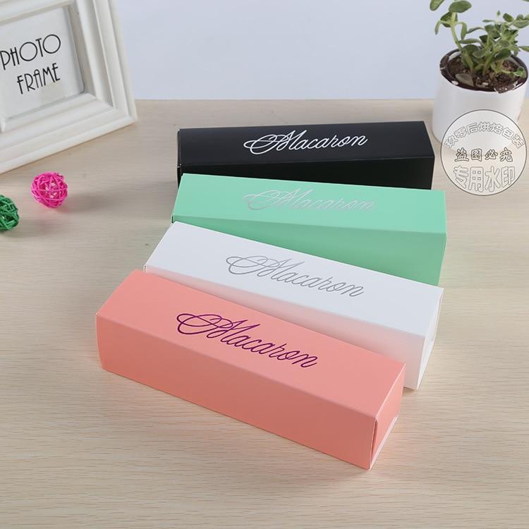 핑크 화이트 블랙과 그린 디저트 마카롱 상자 6 캐비티 다채로운 마카롱 과자 포장 상자 100 pcs-에서선물가방&포장용품부터 홈 & 가든 의  그룹 2