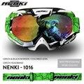 Бесплатная доставка 2016 Профессиональный Мотокросс Goggle Мотоцикл Щит Visor Очки Gafas Каско Nenki 1016
