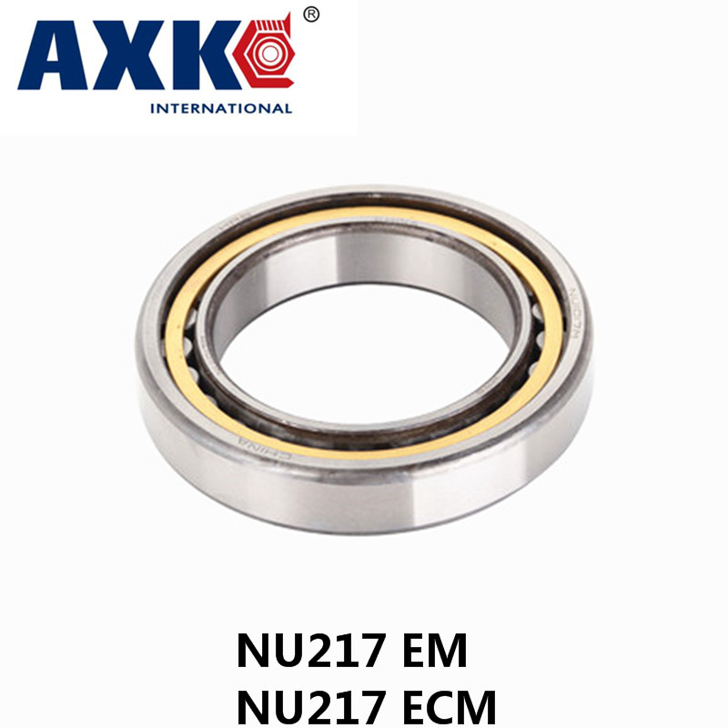 AXK  NU217 EM or NU217ECM (85x150x28mm)Brass Cage  Cylindrical Roller Bearings ABEC-1,P0 канцелярский набор многоразовая тетрадь econote a5 blue ecm 02