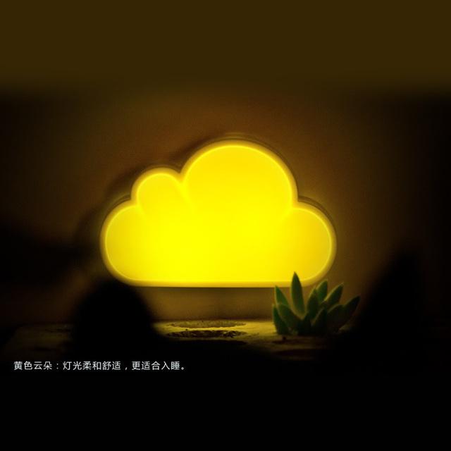 Nuvens relâmpago voz adorável como um balão de luz LED Nightlight controle de luz de poupança de energia criativa inteligente sen