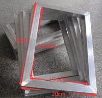 Free Shipping CHEAP 2pcs Silk Screen Printing Aluminum Frame Outside Size 20x30CM
