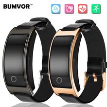 CK11s leather Smart Bracelet Bluetooth Smartband Blood Pressure Heart pulse monitor Fitness Tracker Pedometer Wristband pk p1