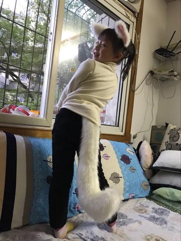 Аниме вечерние костюмы Лолиты для косплея черный хвост кошки 45 см внутри лисий хвост cos Kamisama Hajimemashita Inu Boku Секретная служба