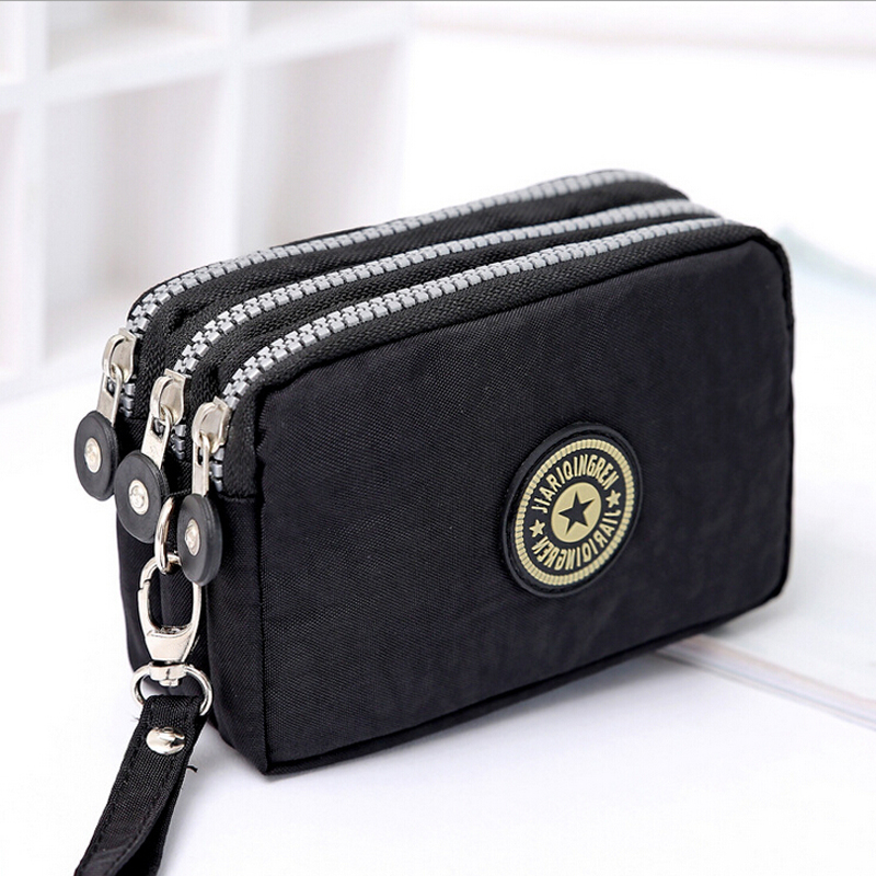 Ms. three new denim zipper coin purse makeup bag holding the phone in the bag large capacity portable package women mini