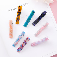Japan Korea Colorful Acrylic Resin Long Strip Barrettes For Women Girls Fashion Jewelry Simple Hairpins Acetic Acid Hair Clips