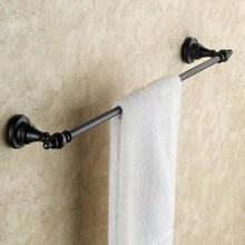 Black Oil Rubbed Bronze Single Towe Bar Wall Mounted Bathroom Bath Towel Rack Bar Towel Holder KD609 стоимость