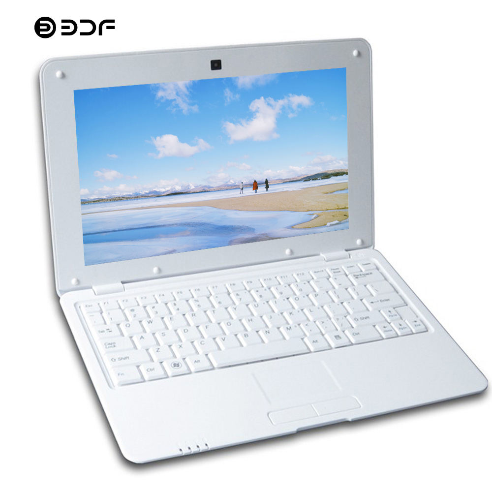 BDF 10.1 Inch Notebook Android 6.0 Laptop  1GB RAM 8GB ROM Quad Core Keyboard Mouse  Wi-fi Mini Netbook Bluetooth RJ45