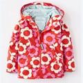 2016 new Retail baby girls hoodies,Girls jackets, outerwear & coats, children's coat, Spring autumn baby flower coat, girls coat
