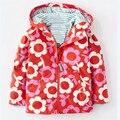 2016 nova Retail bebê meninas hoodies, jaquetas Meninas, casacos & coats, revestimento das crianças, primavera do bebê do outono casaco flor, casaco meninas