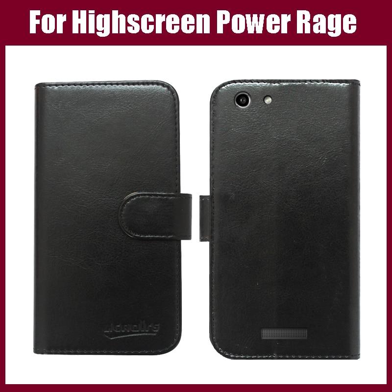 Highscreen Power Rage Case Neuankömmling Hochwertiges Flip-Leder Exklusive Schutzhülle für Highscreen Power Rage Case